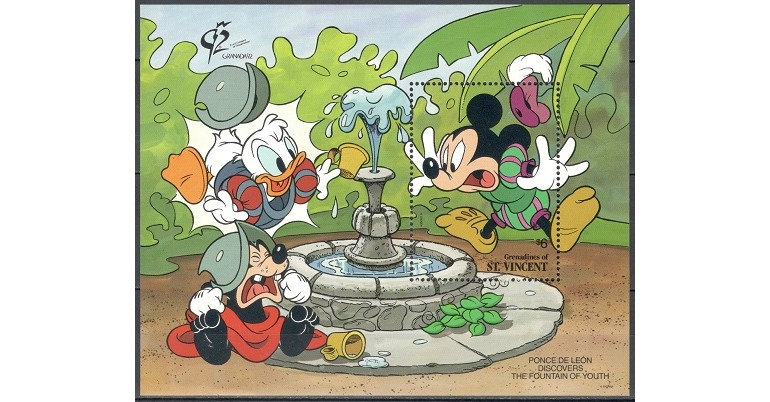 GRENADINES OF ST VINCENT 1992 - MICKEY, PLUTO - BLOC NESTAMPILAT - MNH / disney206