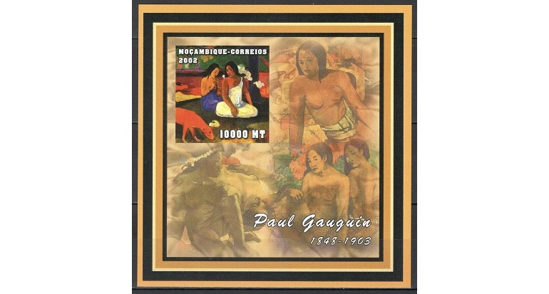 MOZAMBIC 2002 - PICTURA, PAUL GAUGUIN (3) - BLOC NESTAMPILAT - IMPERF. - MNH / pictura271